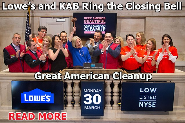 Great American Cleanup Closing Bell